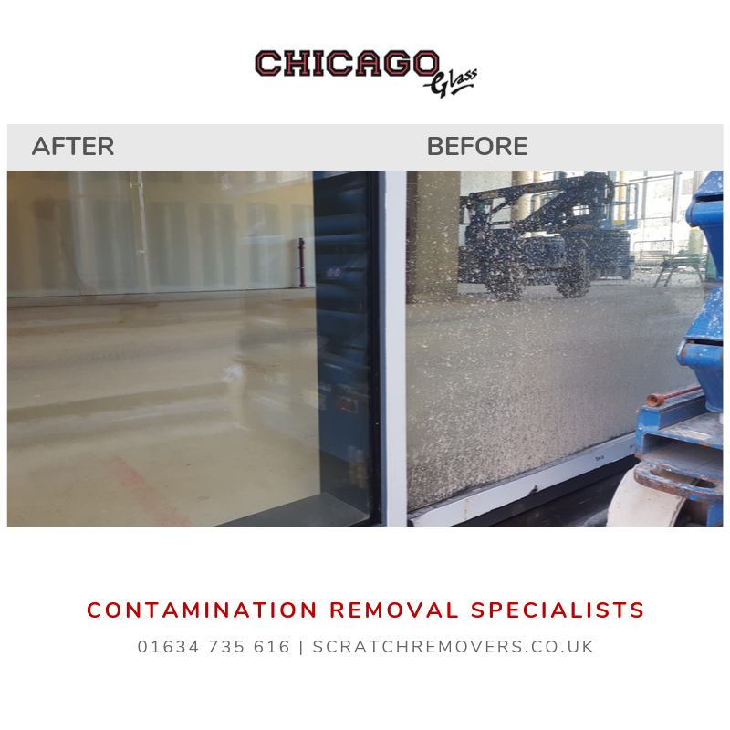 Surface Contamination Removal. Before & After Pictures